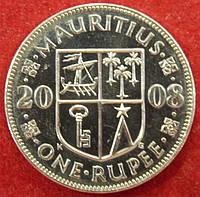 Монета Маврикий. 1 рупия. 2008 г., фото 1