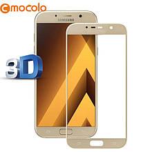 Защитное стекло Mocolo 3D 9H на весь экран для Samsung Galaxy A7 2017 золотистый