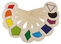 Веер цветов и геометрических фигур
