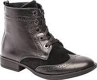 Ботинки деми- 32р-21.0 см 35р-22.8 см кожа Lapsi черные