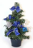 Новорічна ялинка з прикрасами, h=30см, в п/п, колір: синій