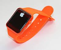 Apple Watch (Реплика), часы светодиодные с логотипом. Оранжевые.