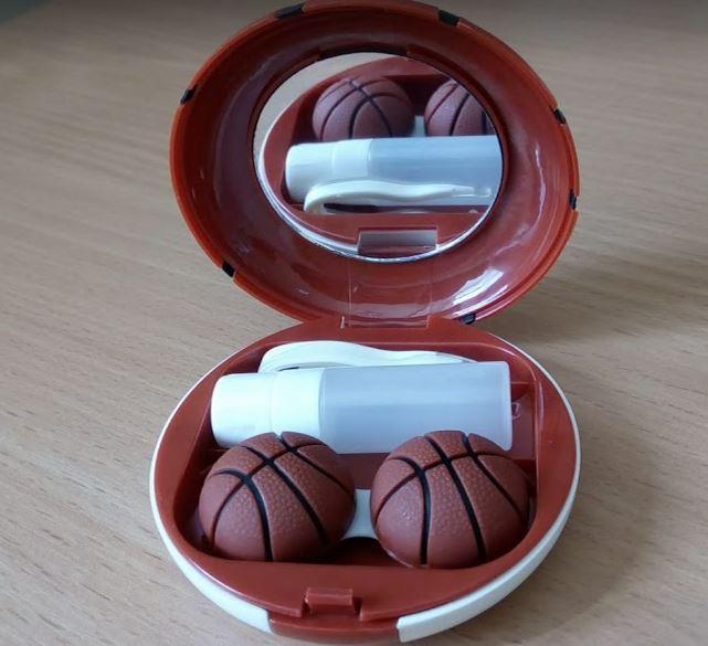 """Дорожній набір для контактних лінз """"Баскетбольний м'яч"""""""