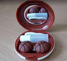 """Дорожній набір для контактних лінз """"Баскетбольний м'яч"""", A-8061-K"""