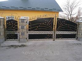 """Кованые ворота от компании """" ПП Брама"""" 15"""