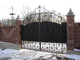 """Кованые ворота от компании """" ПП Брама"""" 17"""