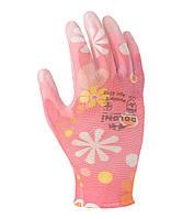 Перчатки садовые Doloni D-Flex Ромашка розовые 4548, фото 1