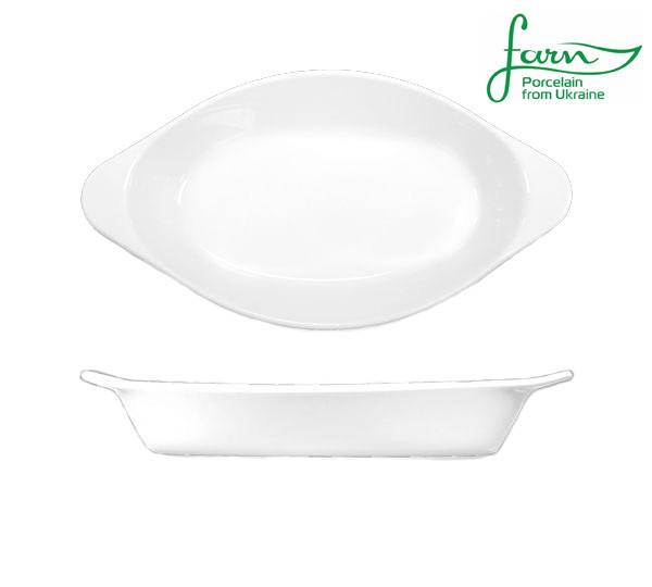 Тарелка фарфоровая овальная для лазаньи Farn Harmonie 280мм