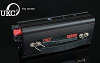 Преобразователь напряжения (инвертор) с зарядным устройством 2в1 UKC 1000W 12V-220V battery charger