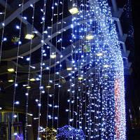"""Светодиодная гирлянда Водопад 3х2,5 м. 720 LED. """"Штора"""" """"Световой занавес"""" """"Дождь"""" СИНИЙ"""