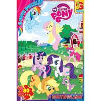 """Пазлы из серии """"My little Pony"""" (Моя маленькая пони), 80 элементов ТМ """"G-Toys"""""""