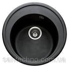 Гранітна мийка для кухні Argo Tondo Black 510*200