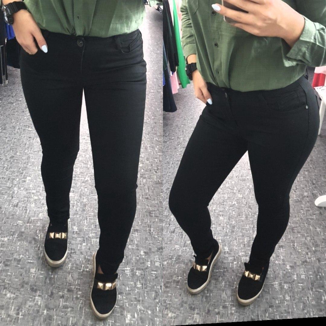 Женские джинсы однотонный,черные