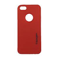 Чехол прорезиненный Spigen Wear It  для телефона iPhone 5s красный