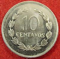 Монета Сальвадора. 10 сентаво. 1995 г.