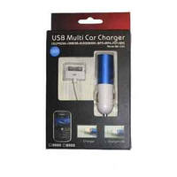 АЗУ 2 in 1 for iPhone 4 Multi (adapter+cable)