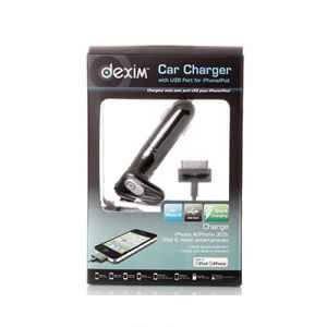 АЗУ Dexim DCA-136-B for iPhone 4G 2A Кабель + доп.порт USB