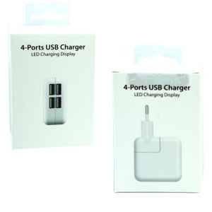 СЗУ 4-port USB 3,1A