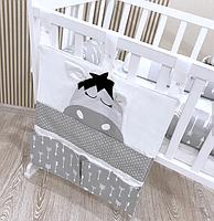 Защита в кроватку - дракончики и органайзер на спинку кроватки, фото 3