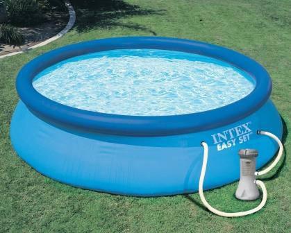Семейный надувной бассейн Intex 28132 (56422) 366х76 см + насос фильтр