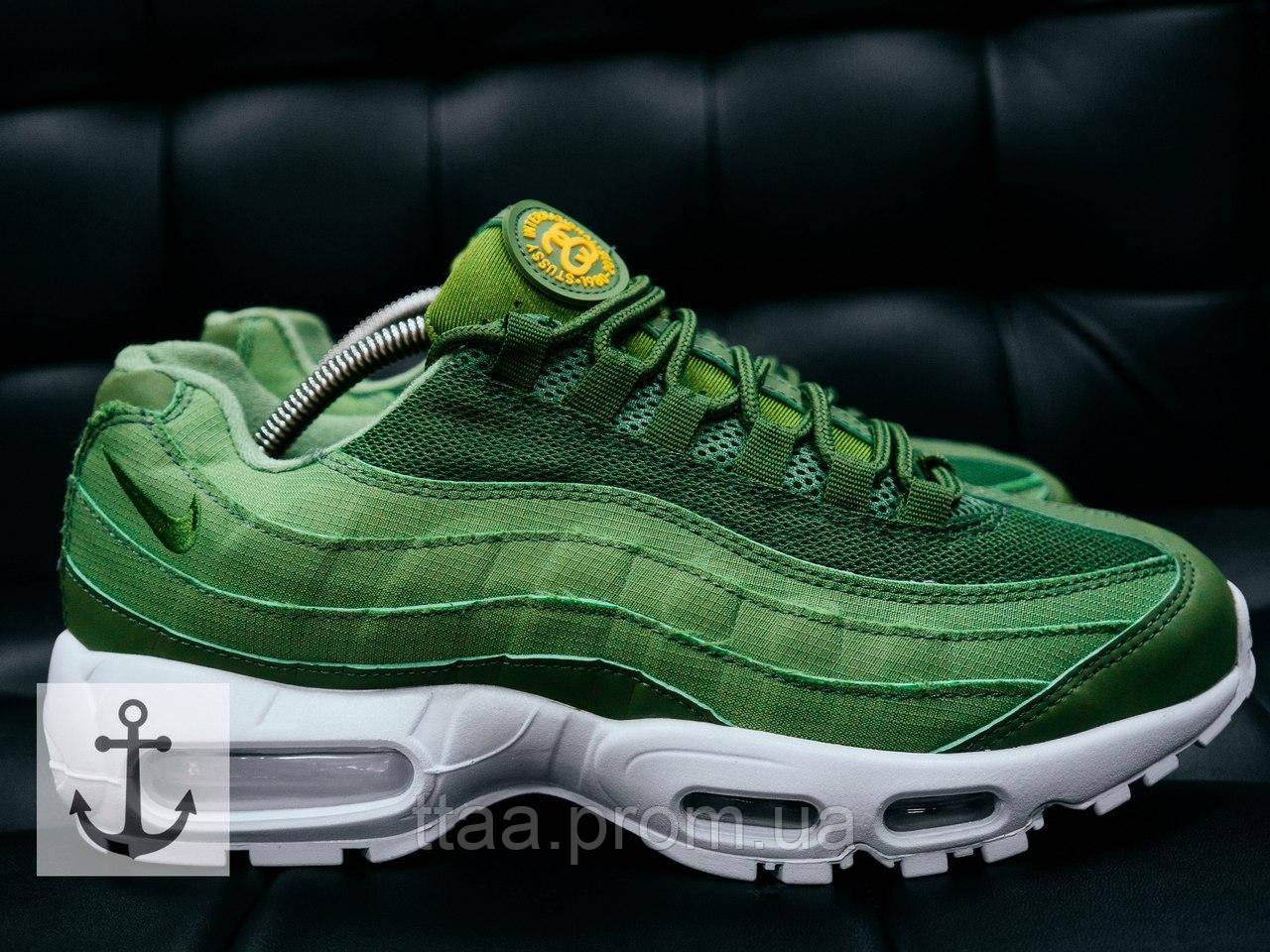 4041c118 Классные молодежные кроссовки Nike Air Max 95 Stassi зеленые (Найк Айр Макс)
