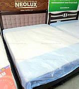 Ліжко двоспальне з м'яким узголів'ям Соната 160х200 Мікс меблі, колір темний горіх