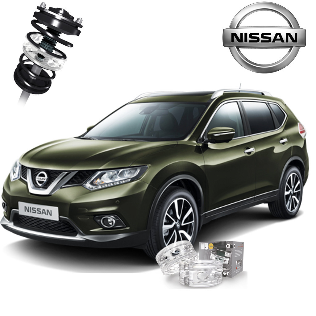 Автобаферы ТТС для Nissan X-Trail (2 штуки)