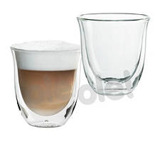 Набор чашек для капучино с двойным стеклом DeLonghi