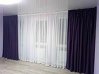 Карниз, штора, тюль под ключ - ширина 2,5м