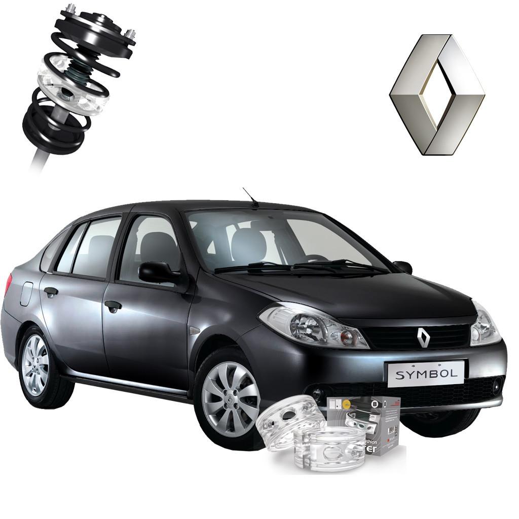 Автобаферы корейские ТТС для Renault Symbol (2 шт) амортизирующие подушки, межвитковые проставки, полиуритан