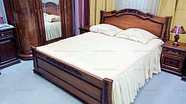 Ліжко двоспальне дерев'яне Жозефіна 160х200 RoomerIN