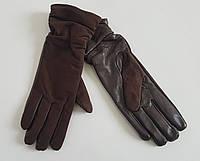 Женские комбинированные перчатки