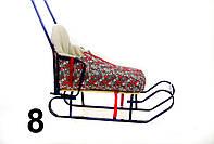 Конверт для санок и колясок с высокой спинкой ассорти
