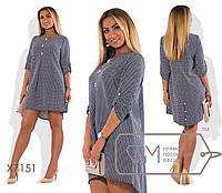 Красивое женское платье синие облегчённое (2 цвета) PY/-070