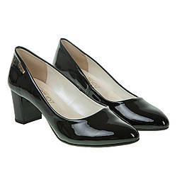 Туфли женские ZanZara (черные, классические, на удобном каблуке)