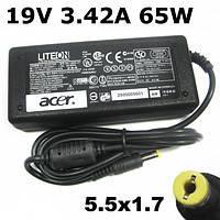 Блок питания зарядка для ноутбука Acer 19V 3.42A 65W A+ klass