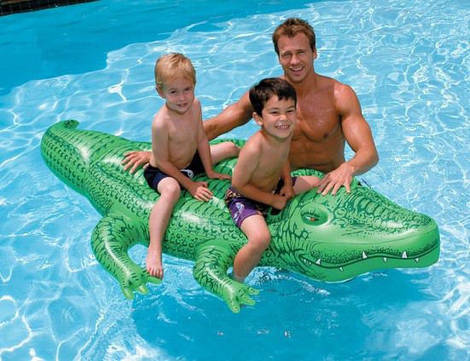 Надувной плотик крокодил 58562 Intex