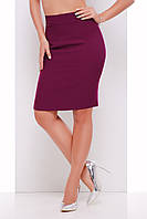 Стильная юбка карандаш баклажанового цвета