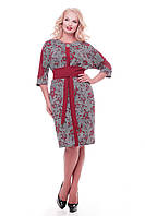 Стильное платье больших размеров Кэтлин бордо розы