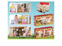 Детский кукольный домик с аксессуарами 1512