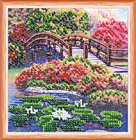 Набор для вышивки бисером Мини Цветы в пруду (15 х 15 см) Абрис Арт AM-162
