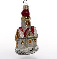 """Ёлочная игрушка """"Замок"""", 8 см, стекло"""