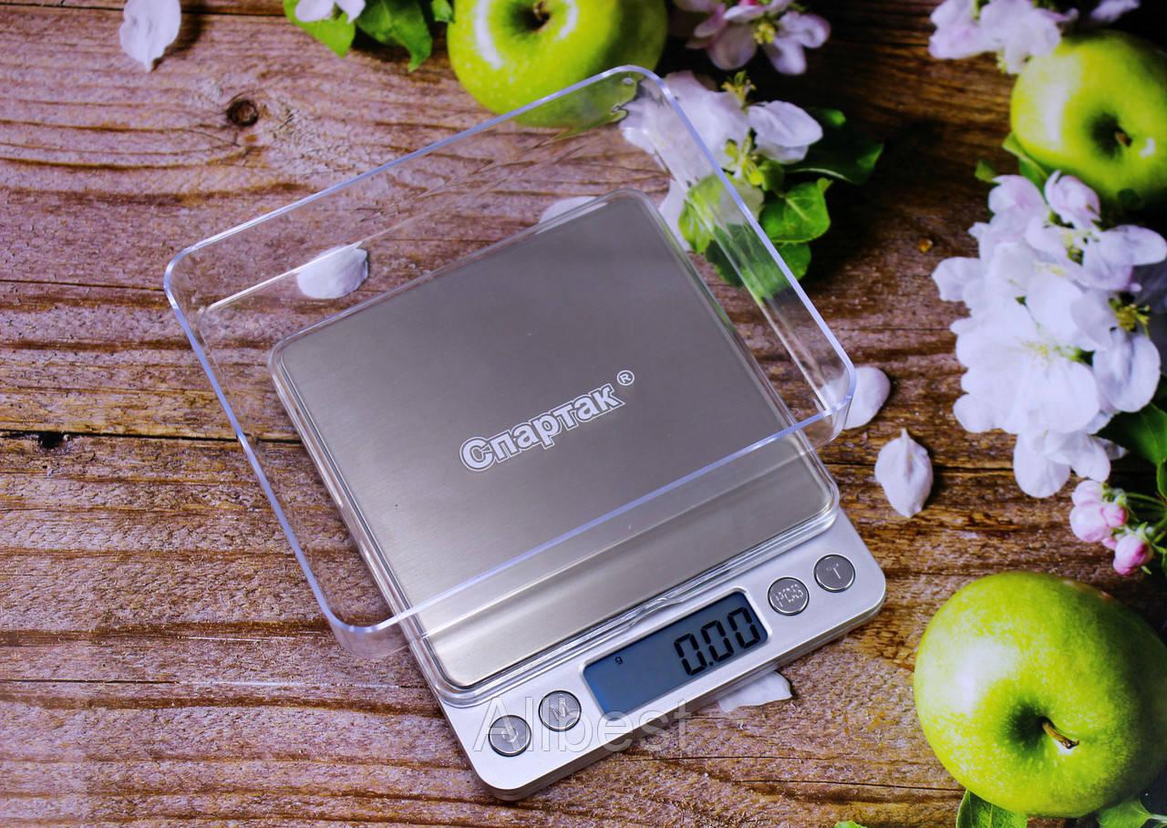Весы электронные цифровые СПАРТАК до 500 гр с точностью 0.01 гр