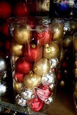 Набор новогодних шаров 24 шт/8 см