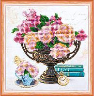 Набор для вышивки бисером Мини Садовые цветы (15 х 15 см) Абрис Арт AM-169