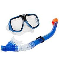 Набор для плавания Intex 55948 (маска, трубка) синий