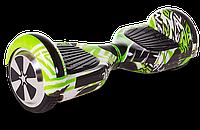 Гироскутер, гироборд Smart Balance U3 - 6,5 граффити зеленый