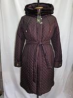 Пальто зимнее стёганное Норка