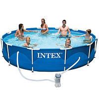 Каркасный бассейн Intex 28214. Сборный Metal Frame 366 x 76 см