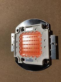 Фито светодиод матричный СОВ SL-50F 50W full spectrum led  PREMIUM (45Х45 mil) Код.59050